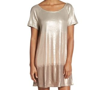 Free People // Rose Gold Sequin Ombre Dress